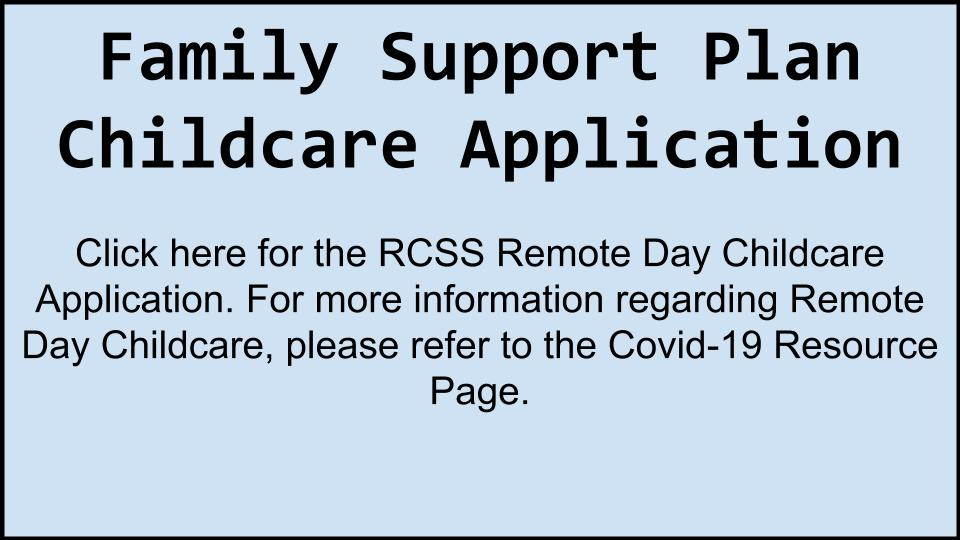 RCSS Remote Day Care Application