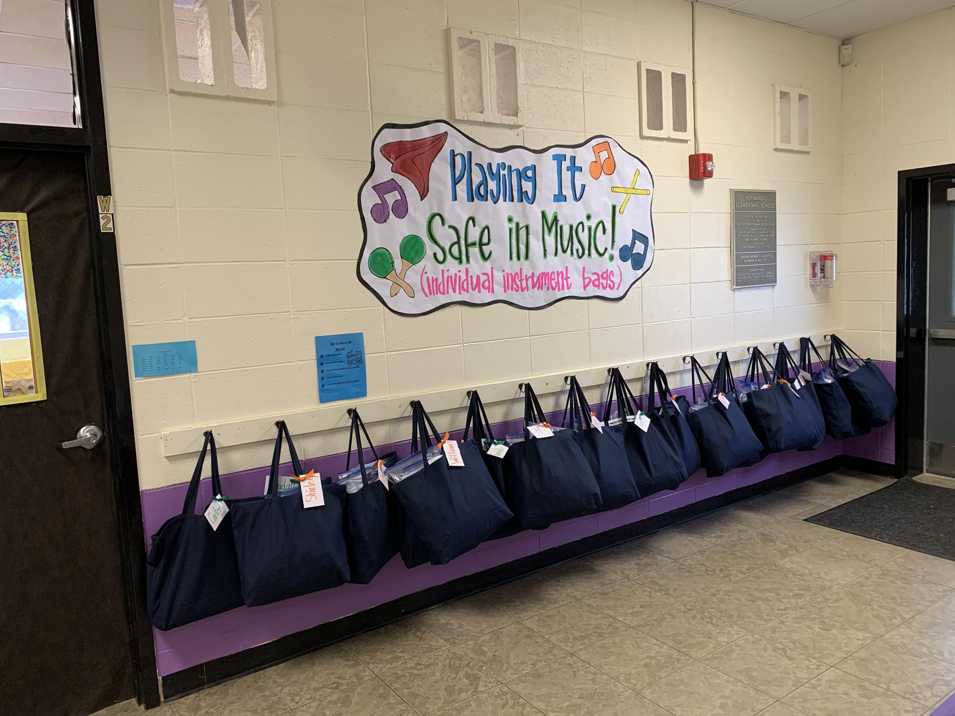 Music Bags- Each child has their very own instruments!