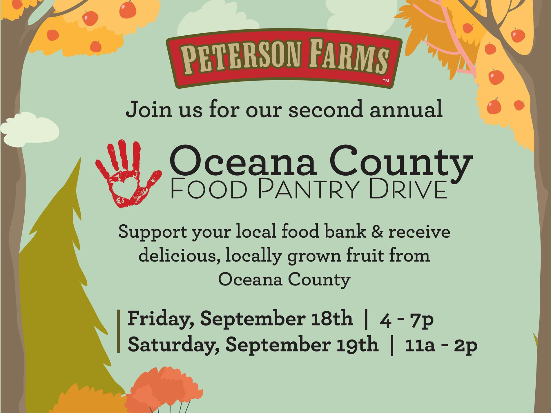 Food Drive poster image from Peterson Farms
