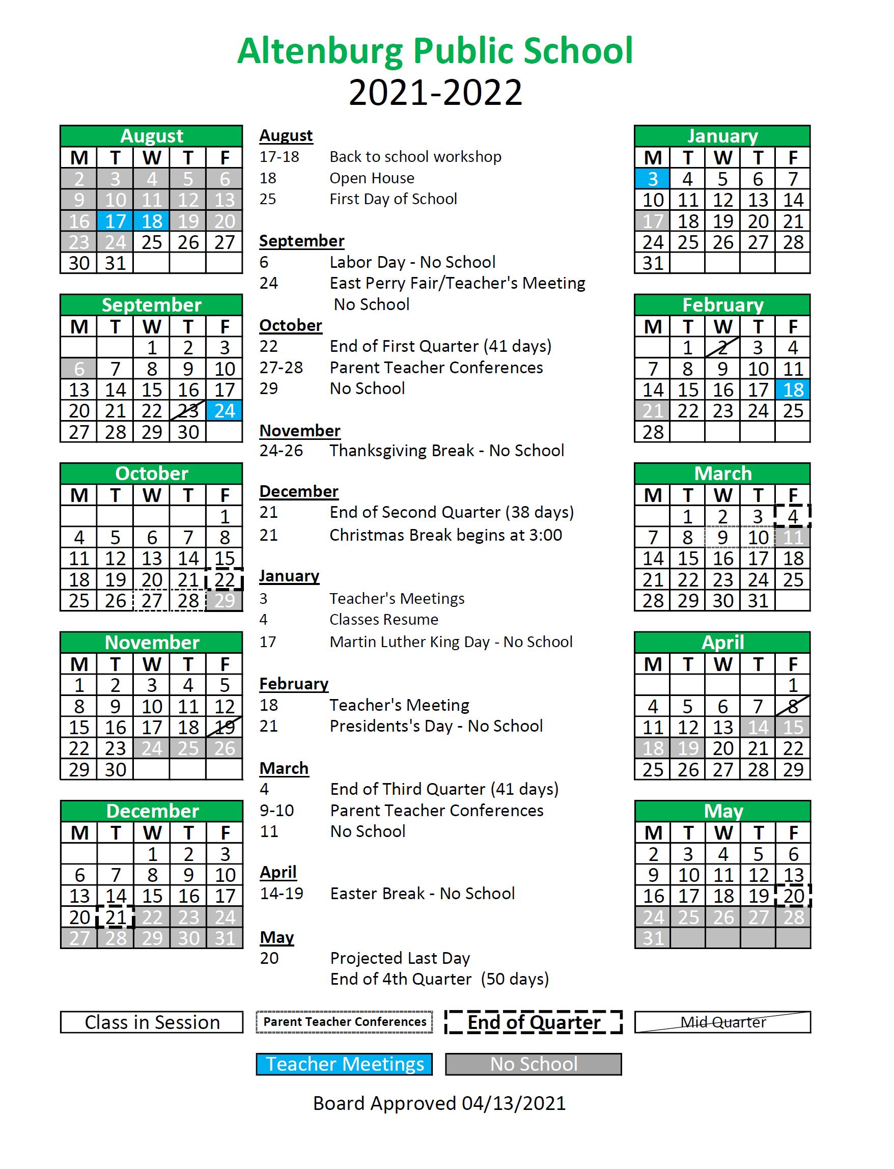 APS Calendar