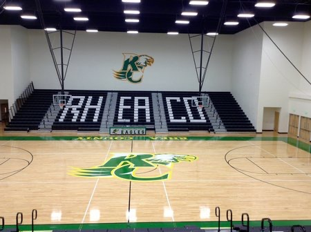 RCHS Gym Bleachers Photo