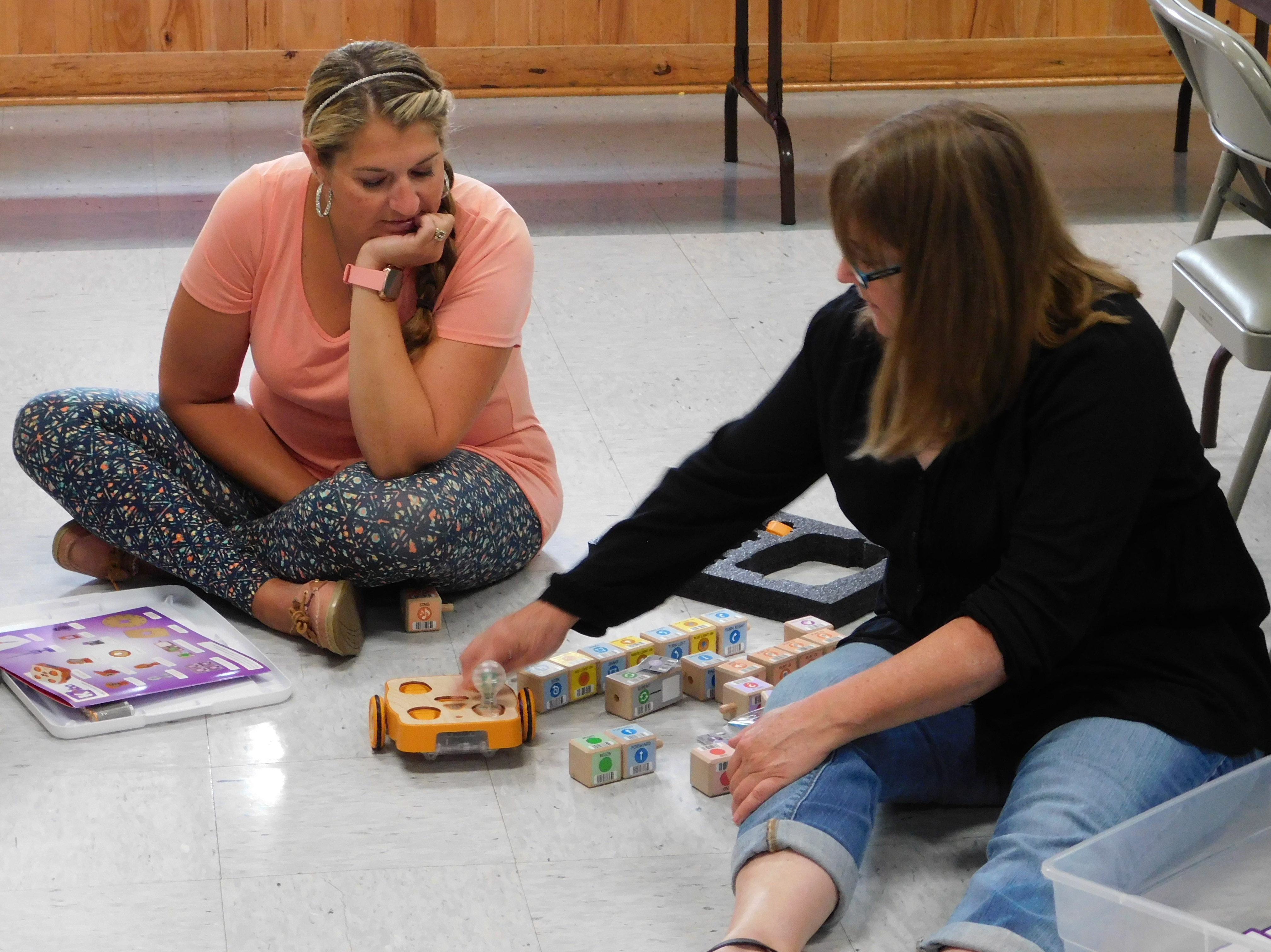Troy 2 Teacher Aide, Tami Hunsicker (left) and Teacher, Valerie Simpson (right)