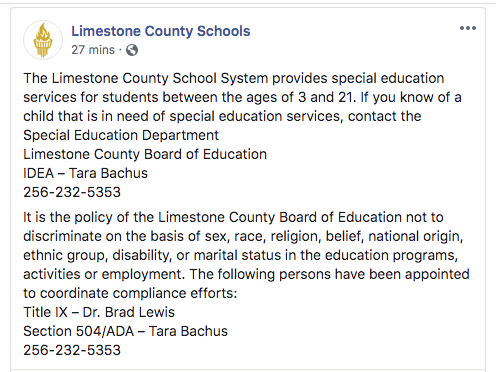 News from our Director of Special Education