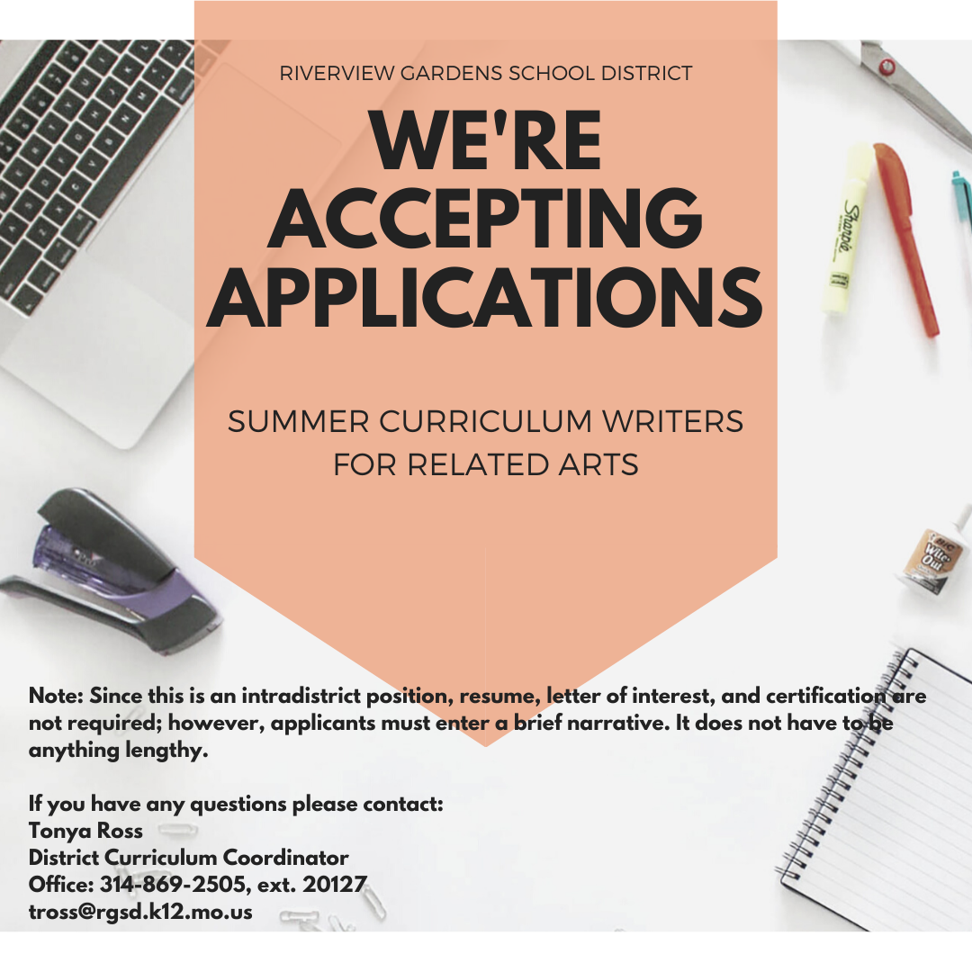 Accepting Applications for Summer Curriculum Writers for Related Arts