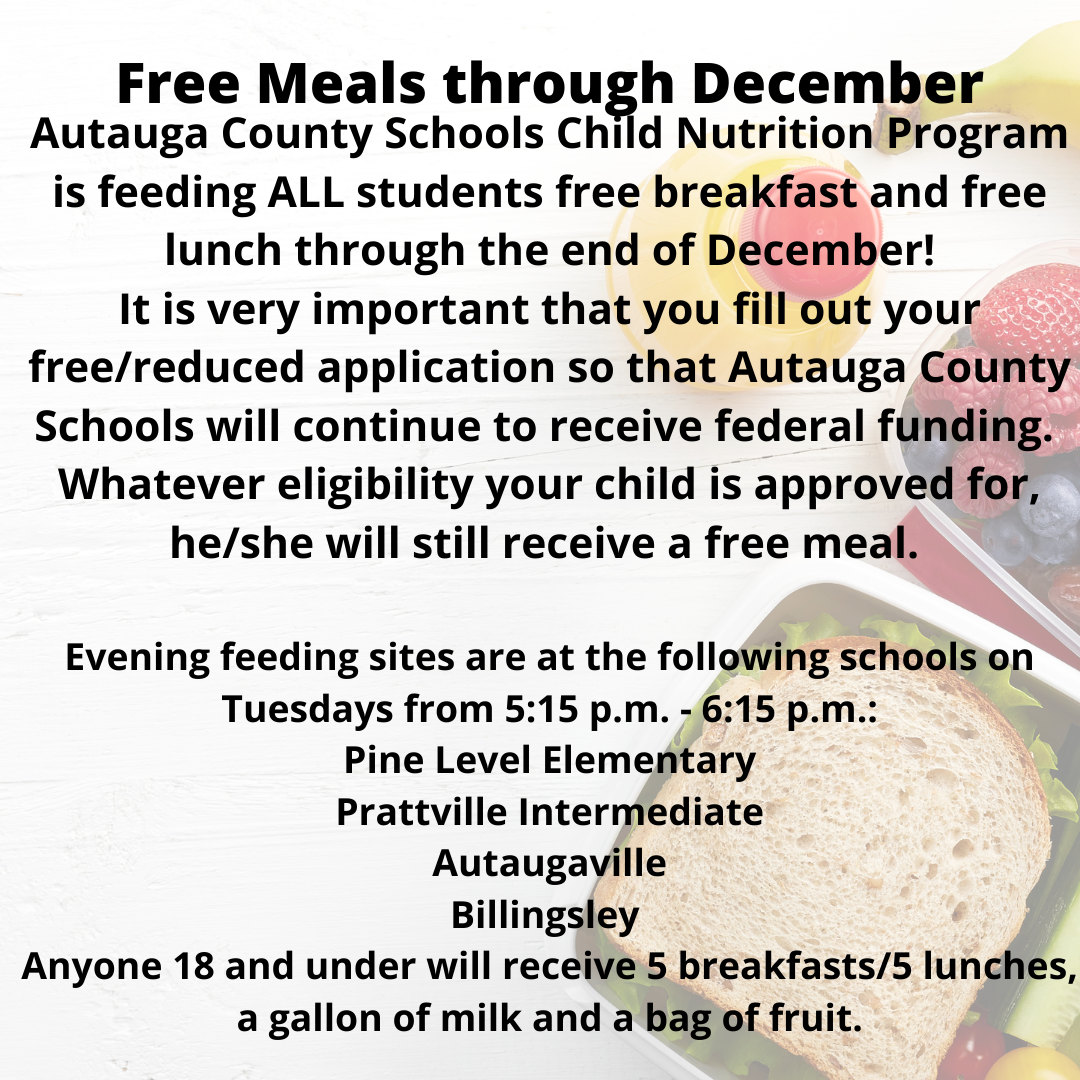 Free Meals till end of December