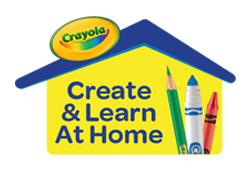 Crayola Create at home logo with link to Crayola website