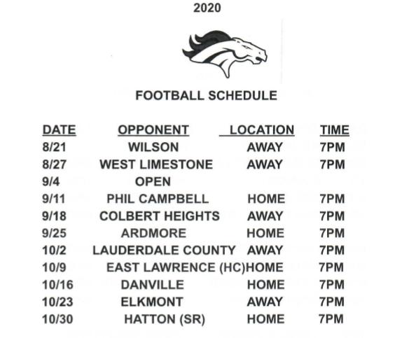 CHS Varsity Football Schedule