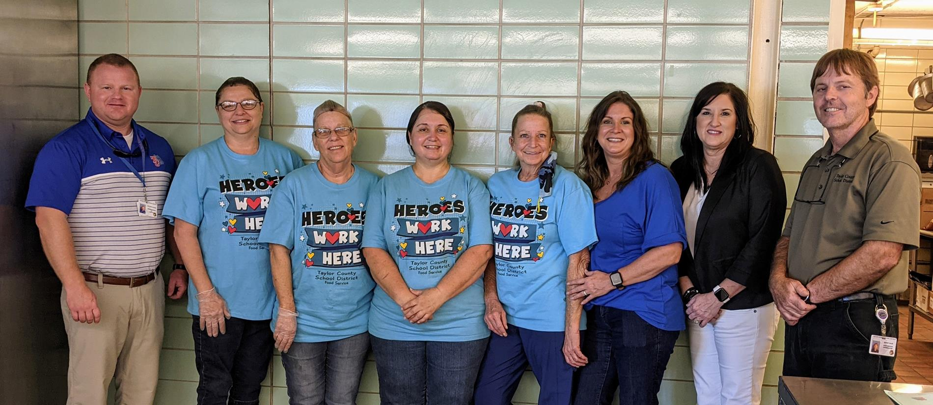 TCMS Lunchroom staff and administrators
