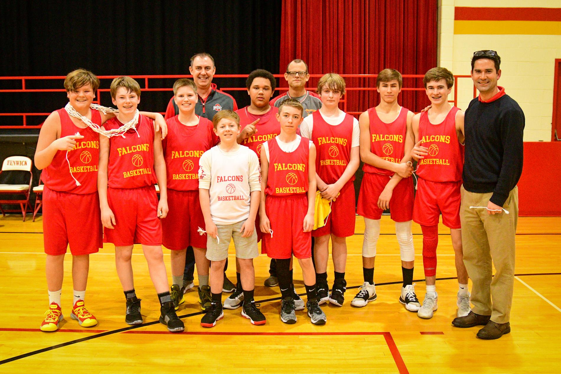 team with coaches