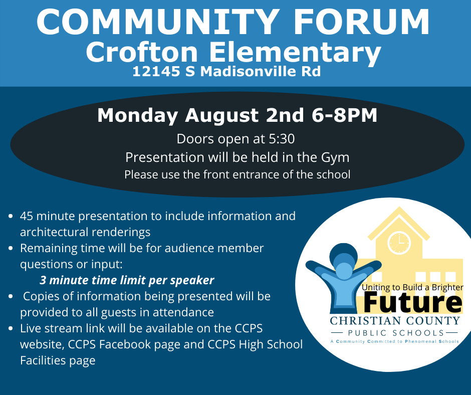 Information for upcoming community forum