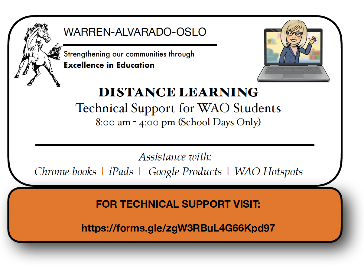 Distant Learning Contact Information