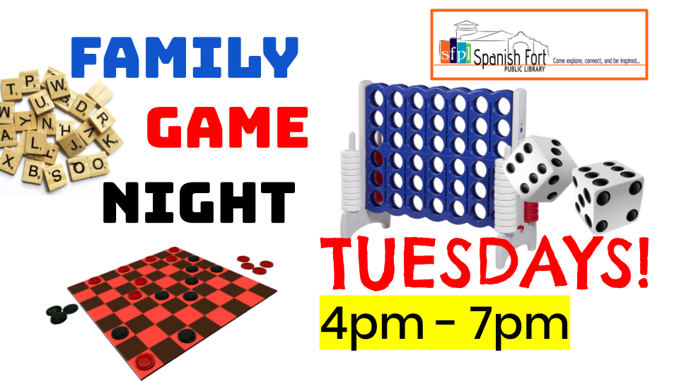 Info about Family Game Night at SFPL