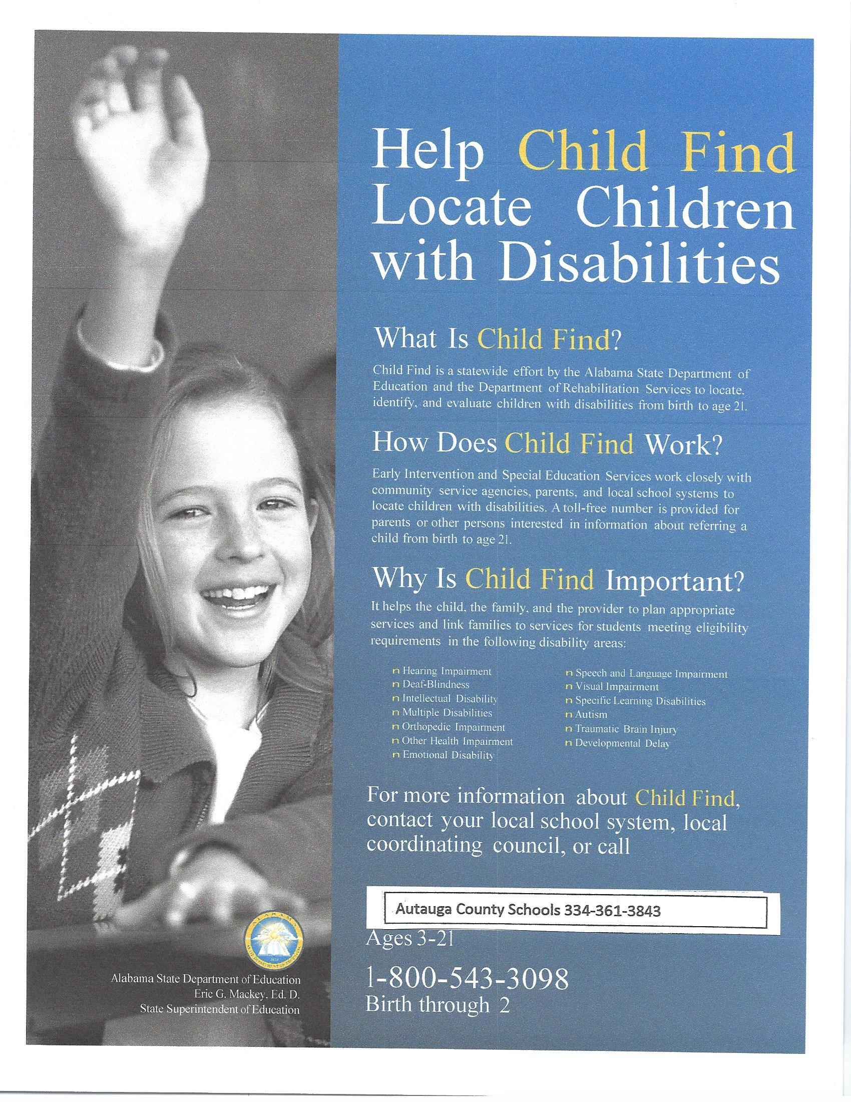 Child Find Flyer