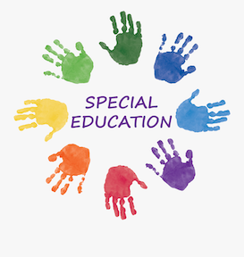 words special education with handprints