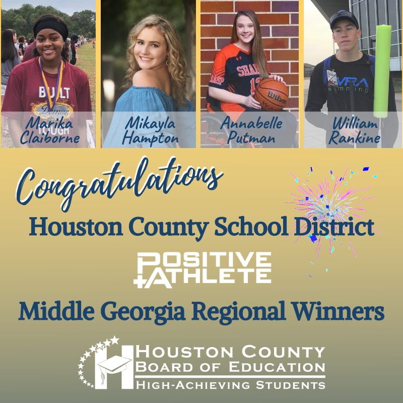 HCSD Middle GA Regional Positive Athlete Winners