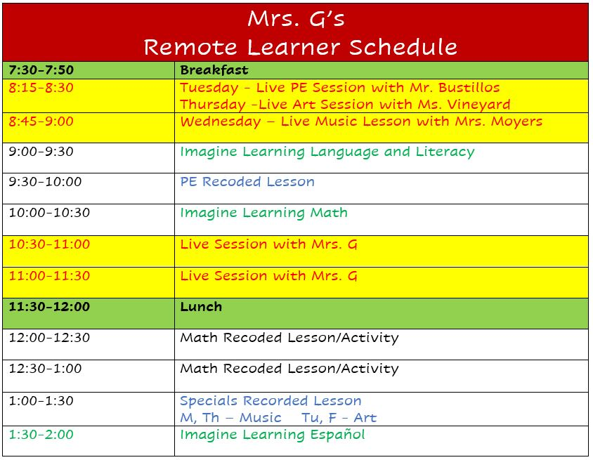 G's Remote Learners