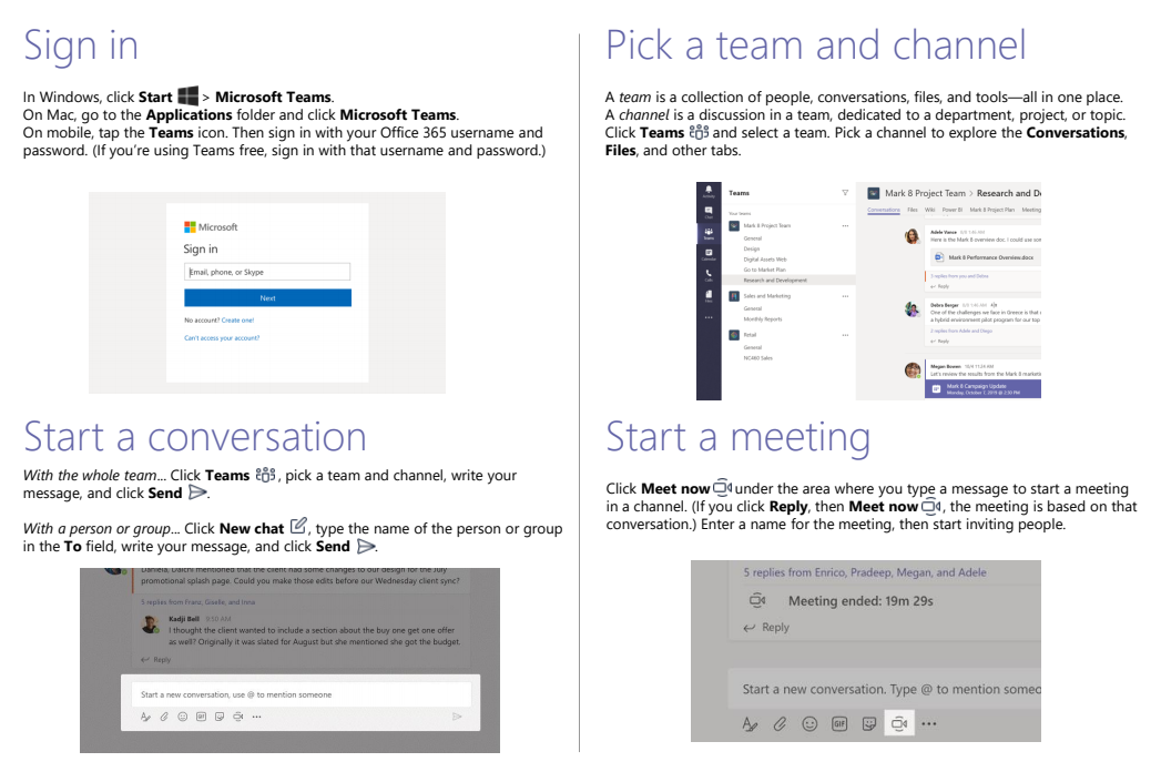 Microsoft Teams Quickstart 2