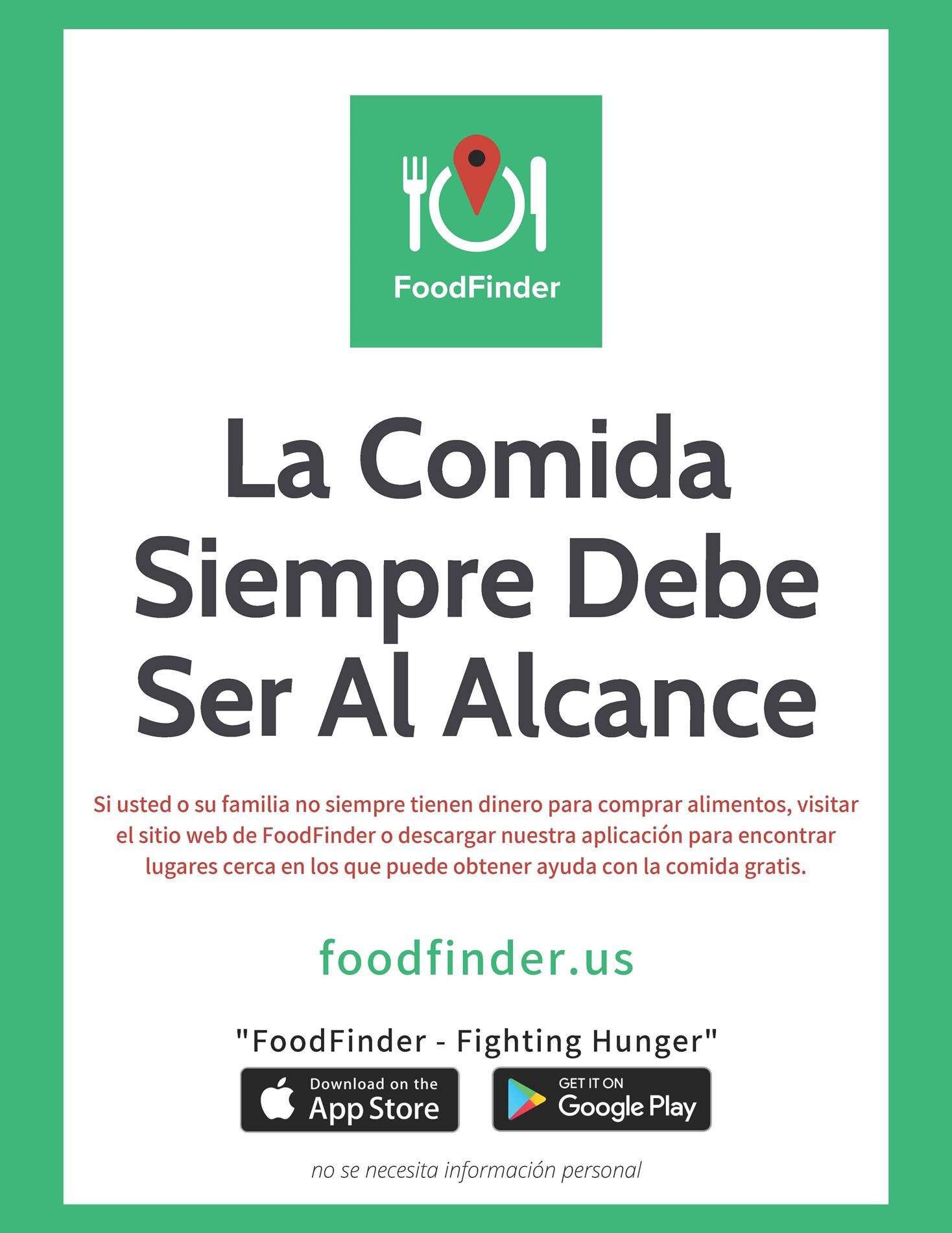 Food Finder (Spanish)