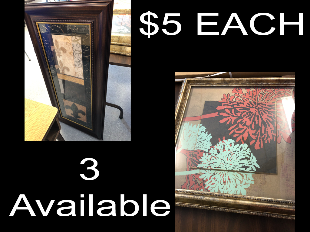 $5 Decorative Pictures (3 available)