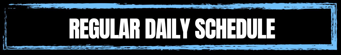 Daily Schedule Header