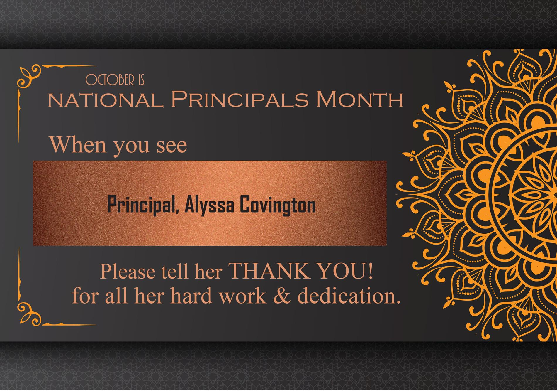 graphic for principals month