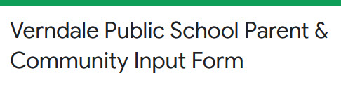 link to parent and community input form