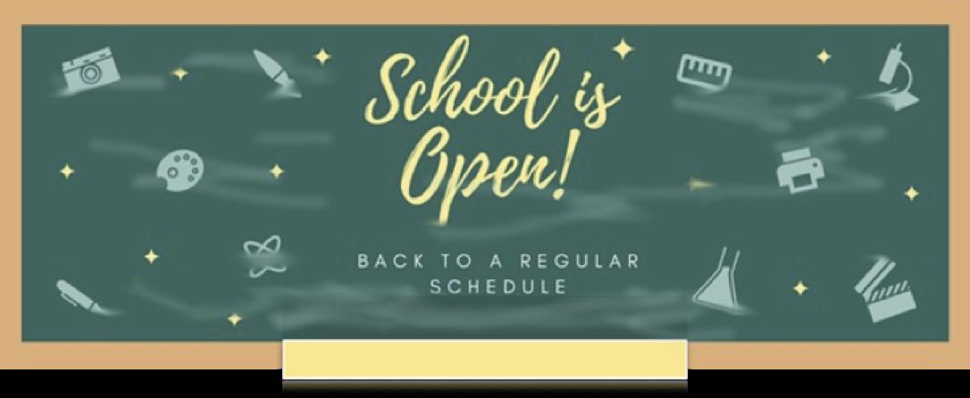 Regular Schedule, Monday, April  12th, 2021