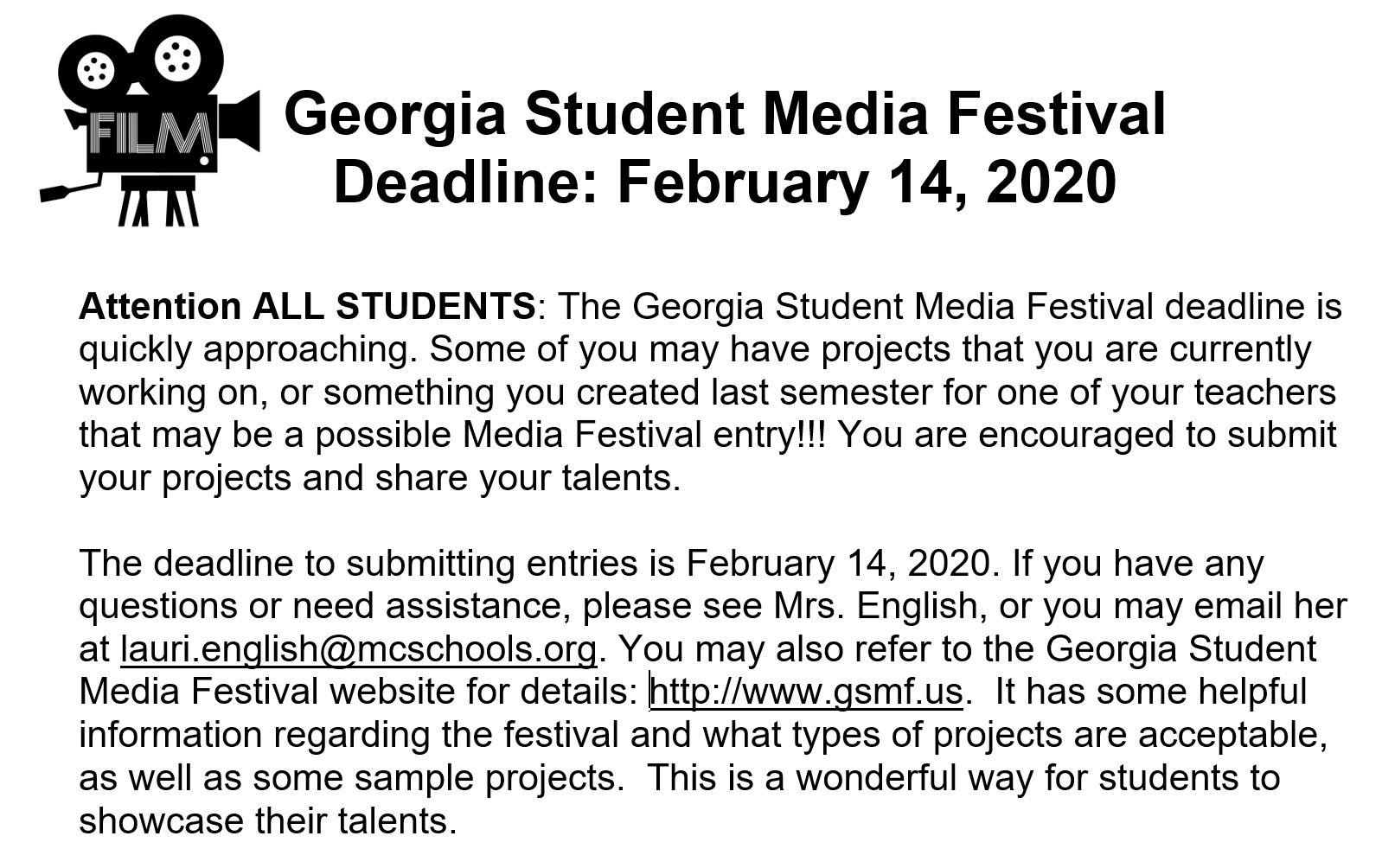 Georgia Student Media Festival