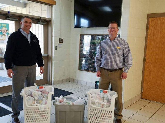 Farm Bureau delivering bags to NES.