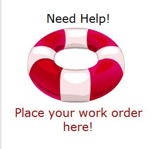 Maintenance Help Logo Button