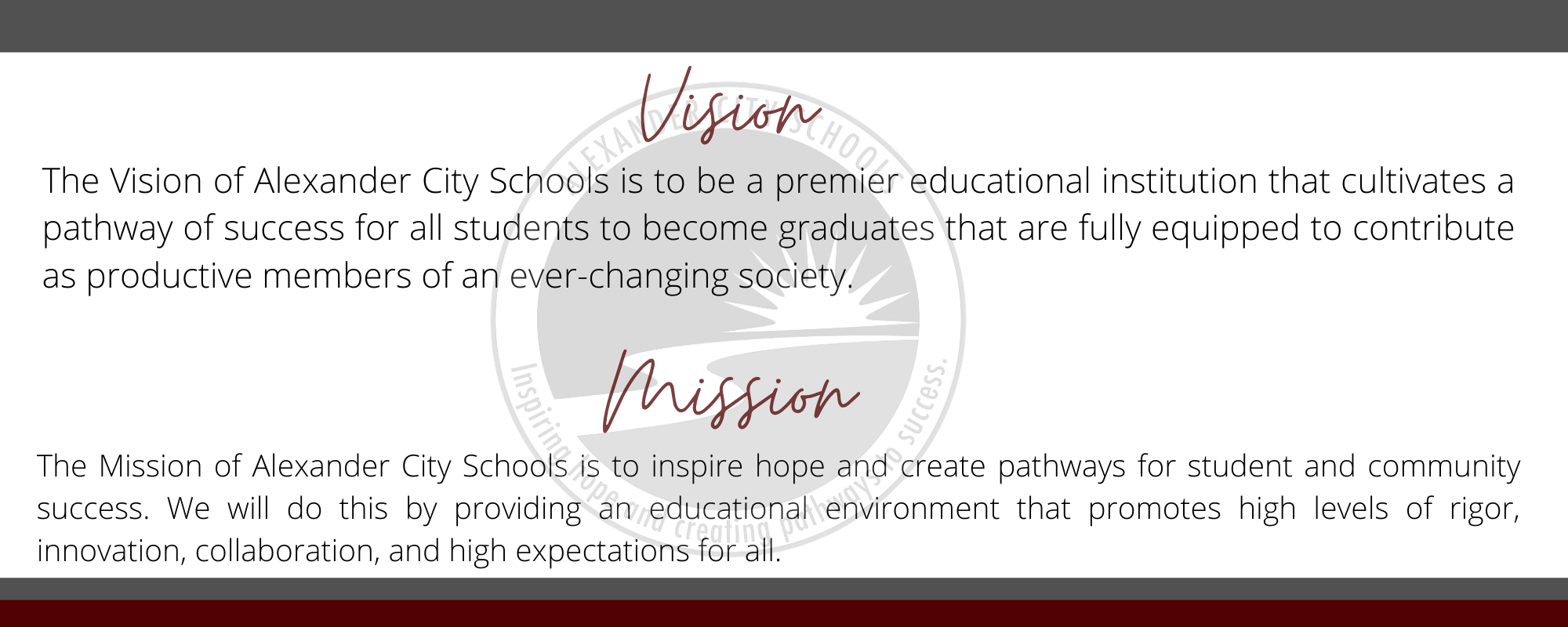 home page mission vision