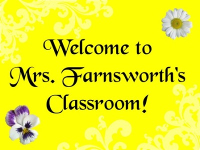 Welcome to Mrs. Farnsworth's Class