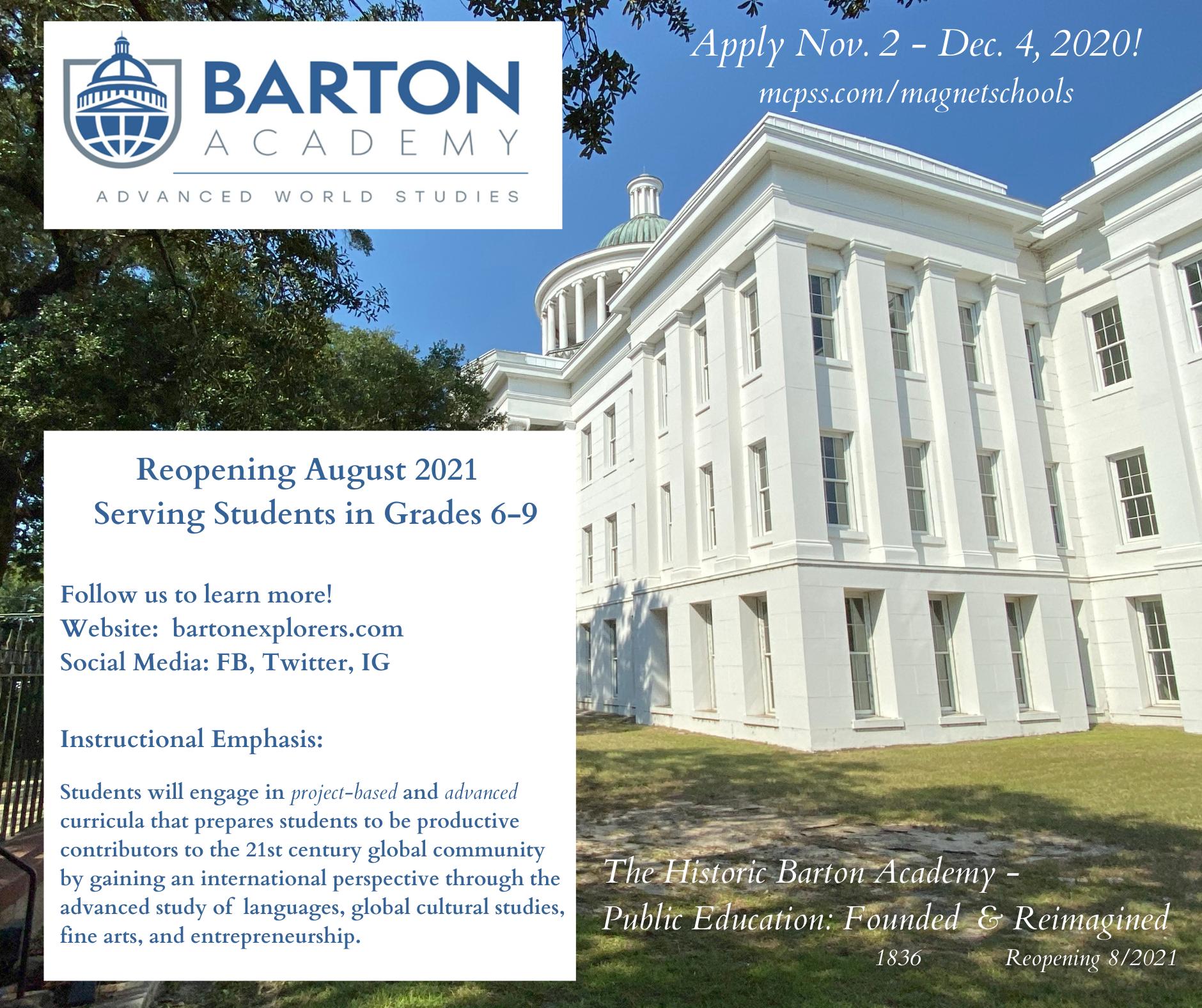 Barton Academy Flyer 1