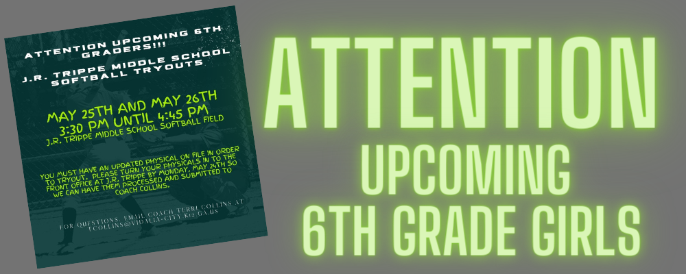 Attention Upcoming 6th Grade Girls
