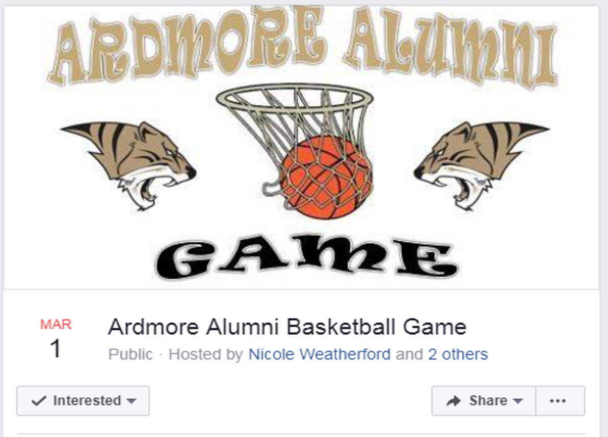 Ardmore Alumni Basketball Game Logo