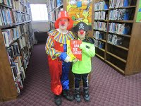 Read Across America clowns