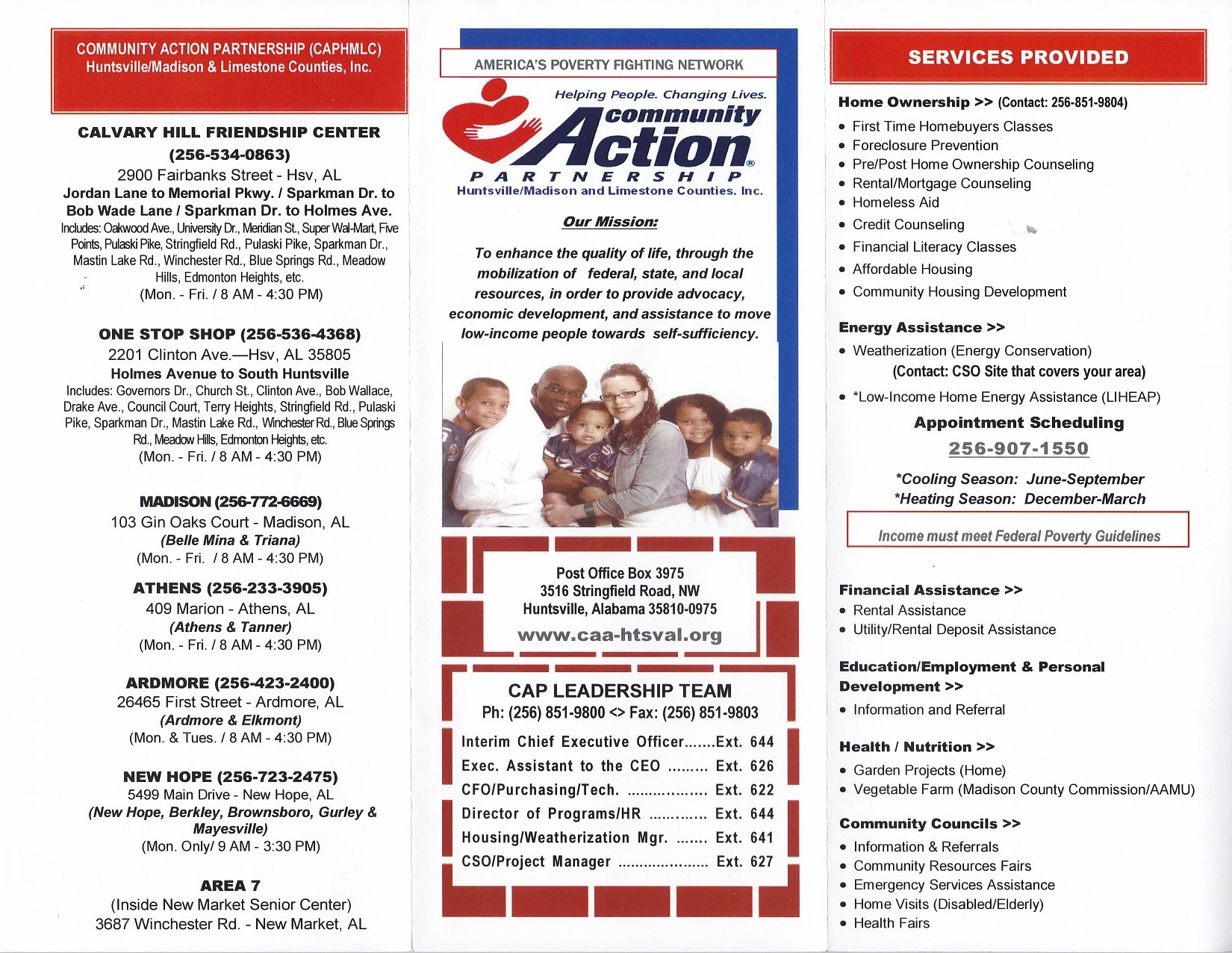 Community Action (Head Start Pre K)