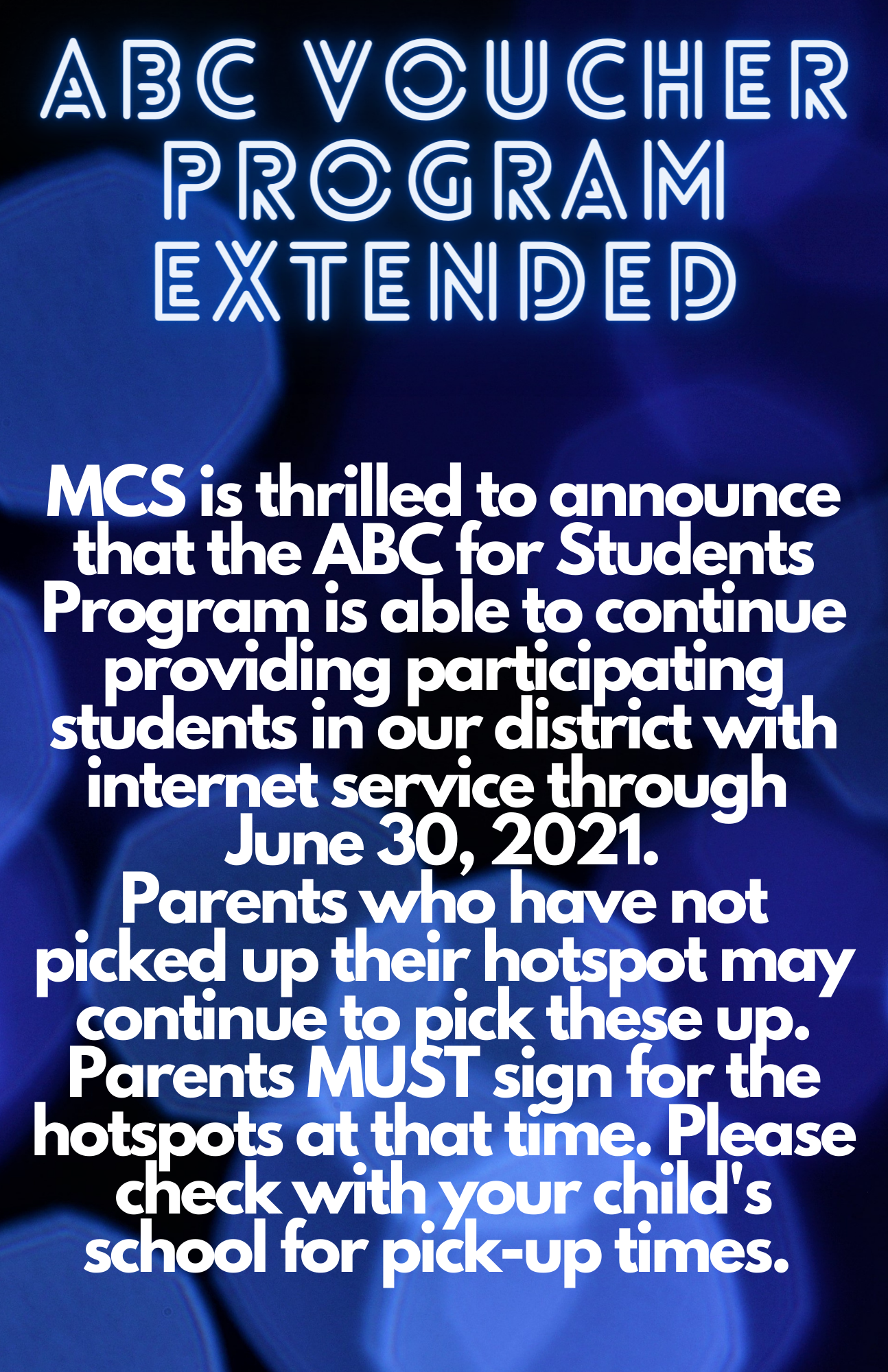 extension of abc program