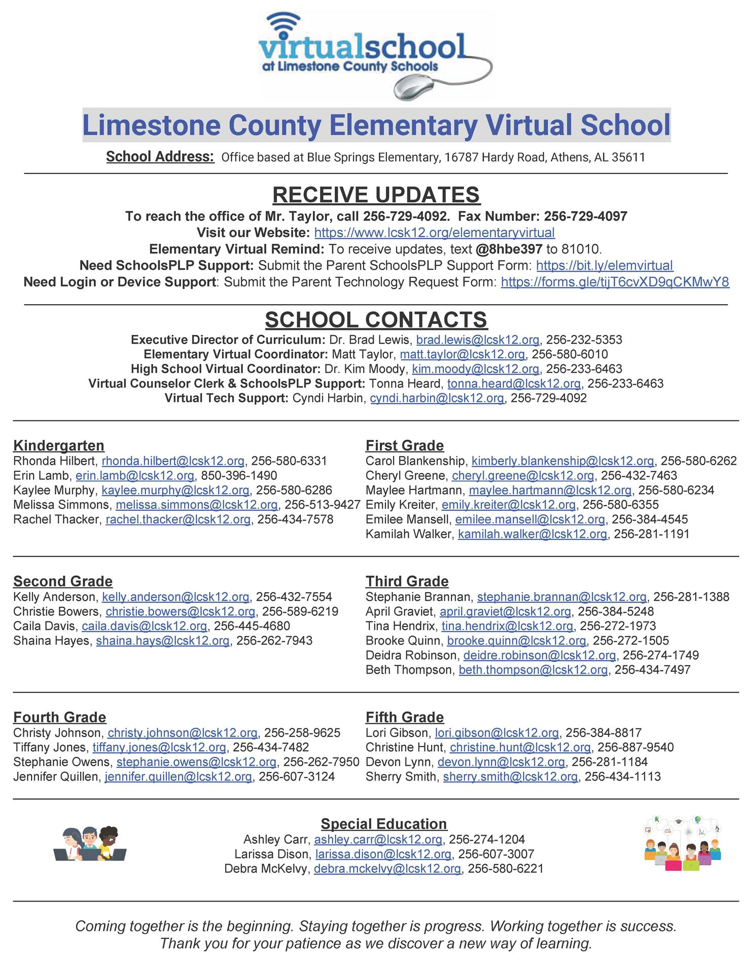LCS Elementary Virtual Information Sheet