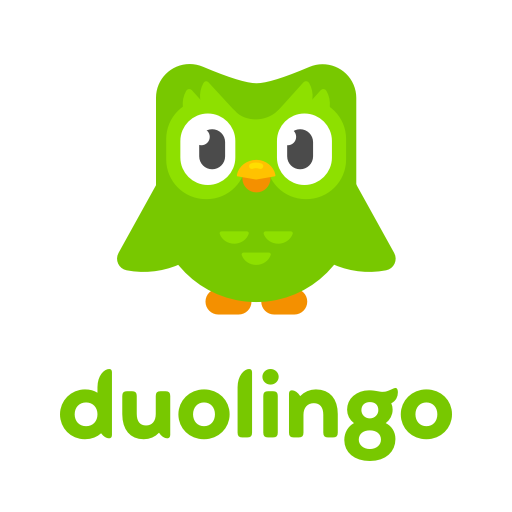 Duolingo language learning logo with link