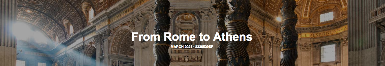 From Rome to Athens tour # 2336529SF