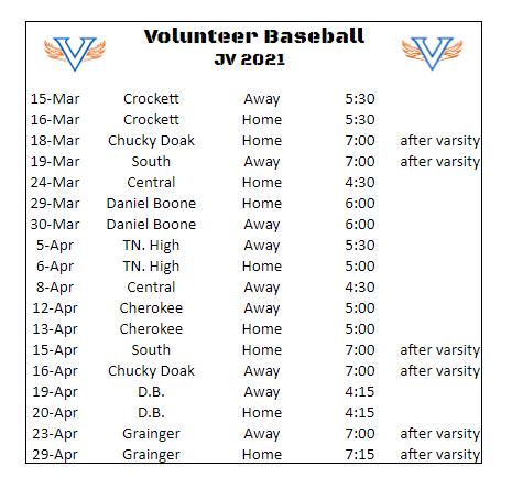 Schedule (JV)