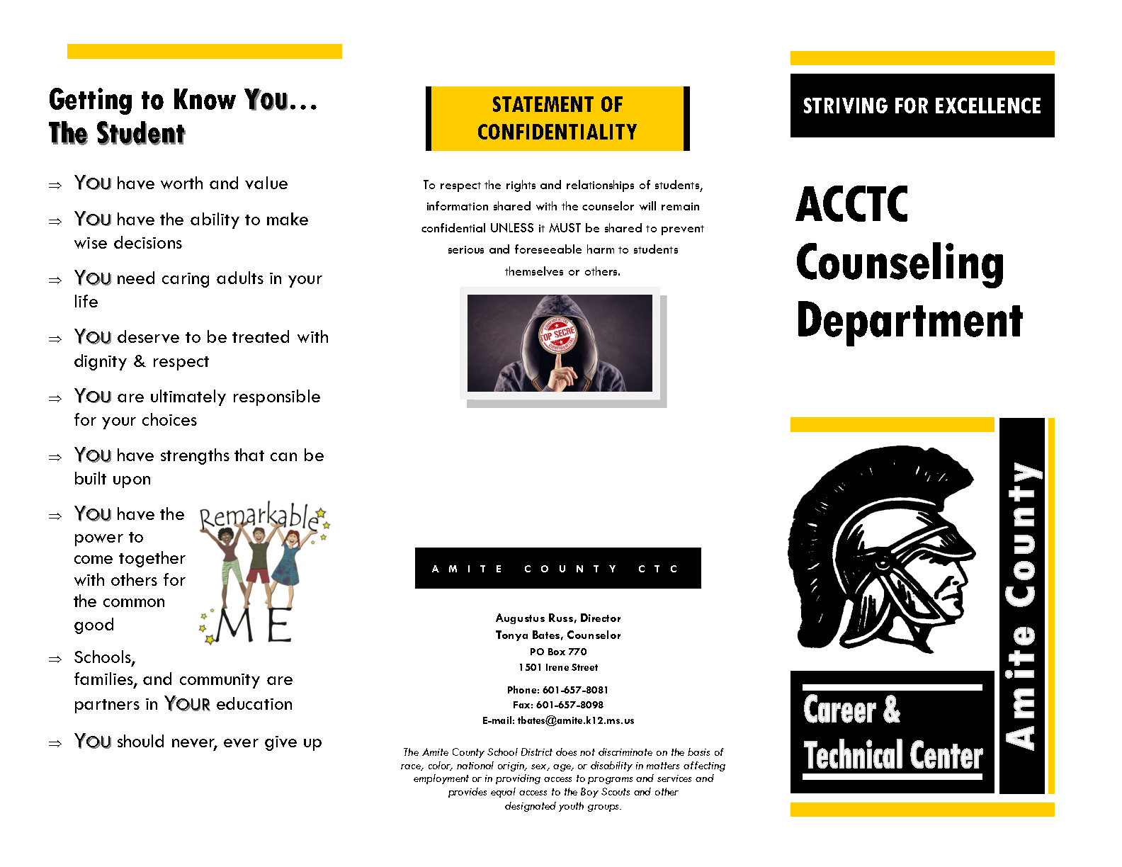 picture of a counseling program brochure