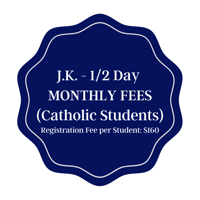 Monthly Tuition - JK Half Day Catholic