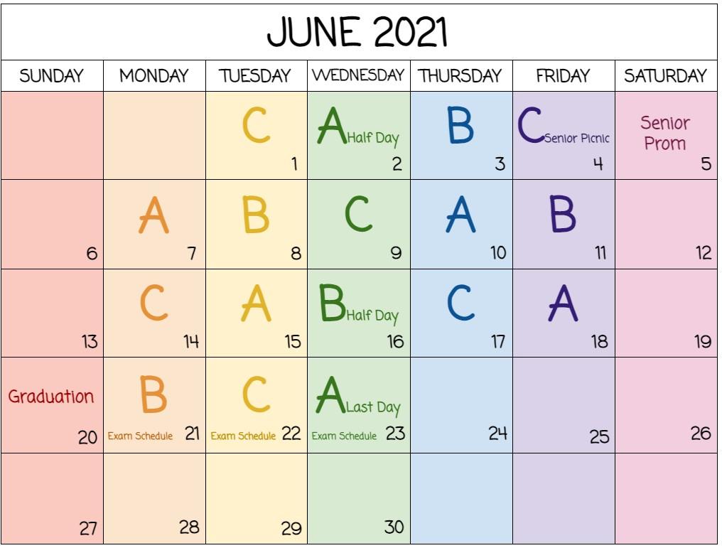 June Schedule