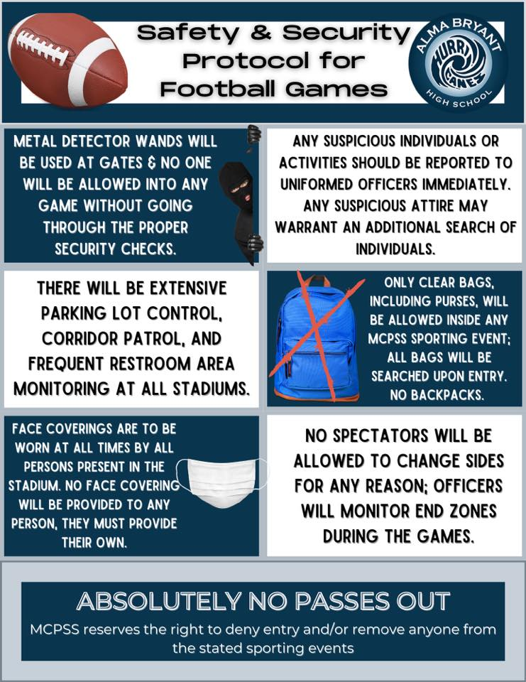 Safety Protocol for Football Games