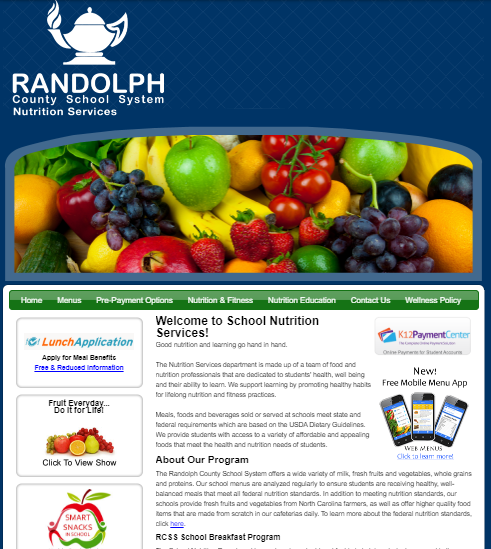 RCSS School Nutrition Page