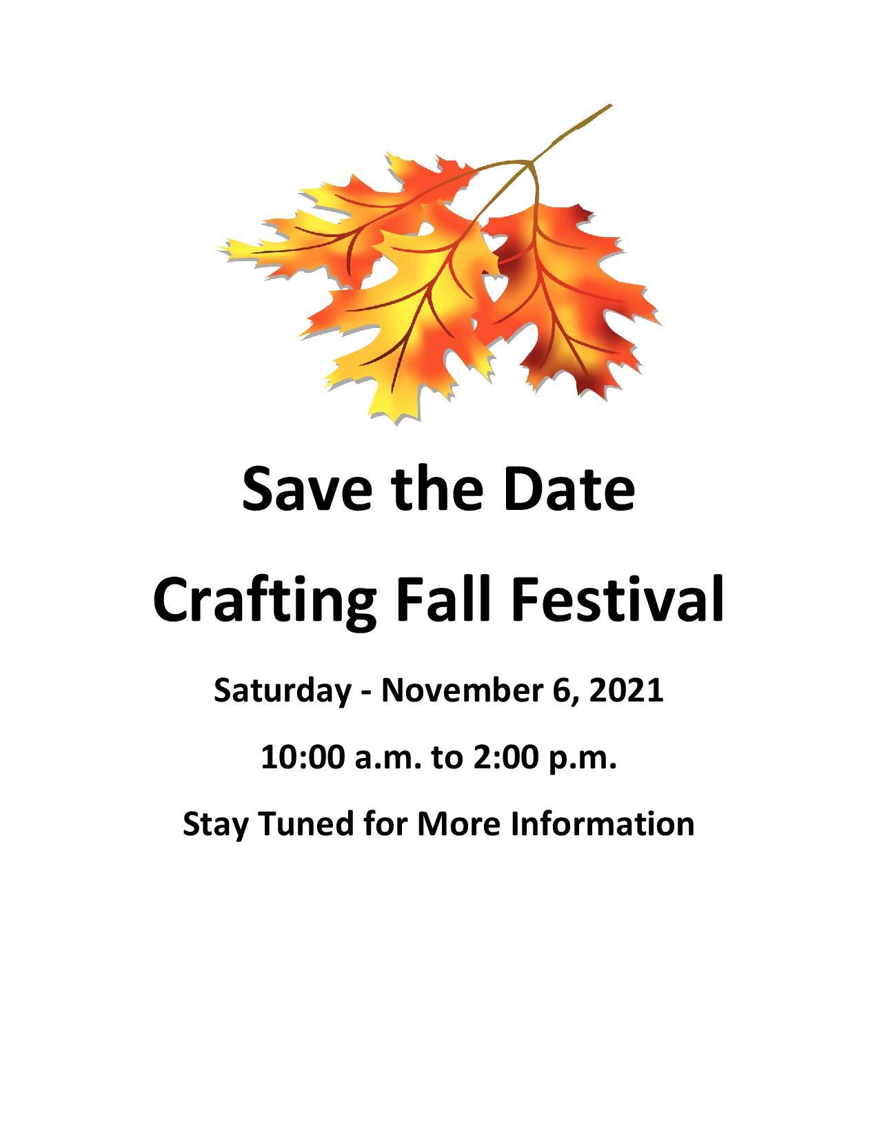 Crafting Fall Festival 2021