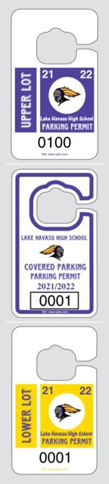 images of LHHS parking permits