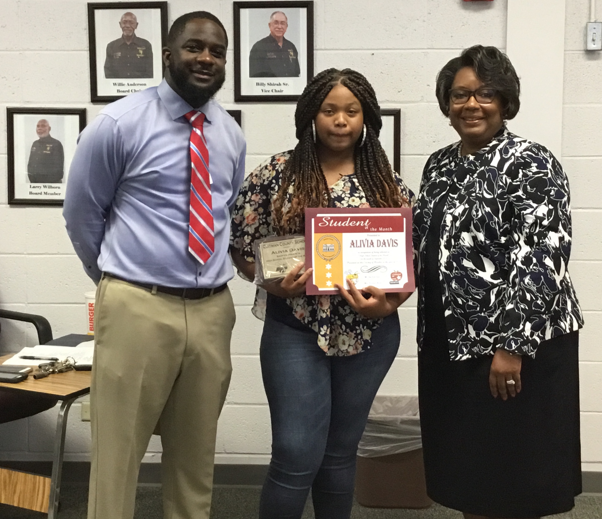 September 2019 HS Student of the Month - Alivia Davis